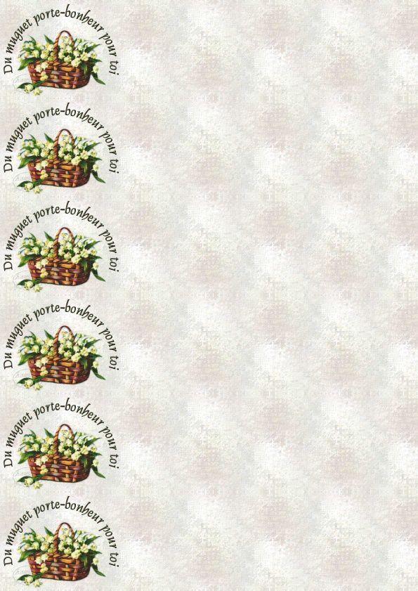 Du Muguets porte-bonheur pour toi Incredimail &amp&#x3B; outlook &amp&#x3B; A4 h