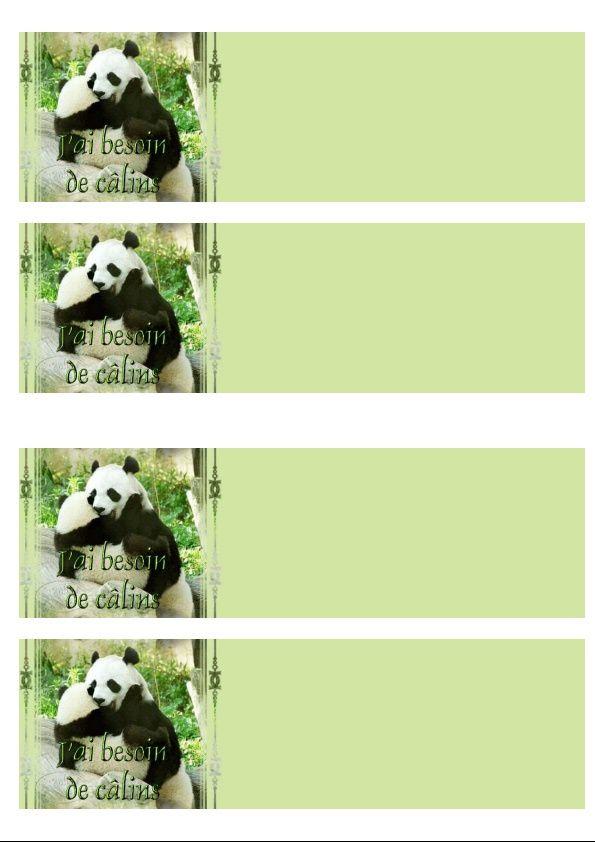J'ai besoin de câlins Panda Incredimail &amp&#x3B; Papier A4 h l &amp&#x3B; outlook &amp&#x3B; enveloppe &amp&#x3B; 2 cartes A5 &amp&#x3B; signets  jai_besoin_calins_an_6fe556