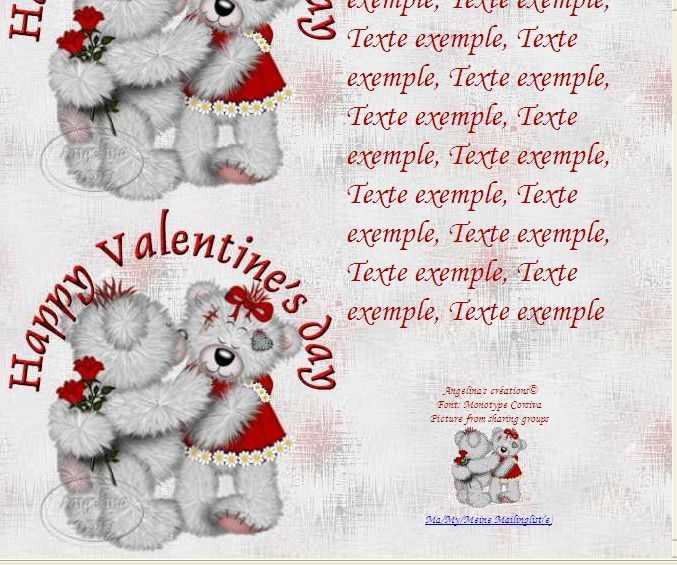 Happy Valentinsday IM &amp&#x3B; Papier A4 h l &amp&#x3B; outlook &amp&#x3B; enveloppe &amp&#x3B; 2 cartes A5 &amp&#x3B; signets happy_valentines_creddys_couple_roses