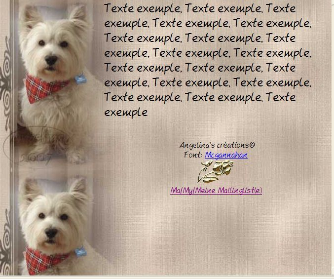 Westie Incredimail &amp&#x3B; Papier A4 h l &amp&#x3B; outlook &amp&#x3B; enveloppe &amp&#x3B; 2 cartes A5 &amp&#x3B; signets 3 langues     chien_princesse_belle2