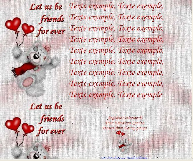 Let us be friends for ever Creddy ballons coeur Incredimail &amp&#x3B; Papier A4 h l &amp&#x3B; outlook &amp&#x3B; enveloppe &amp&#x3B; 2 cartes A5 &amp&#x3B; signets   let_us_be_friends_for_ever_creddy02_10_ballon_coeur