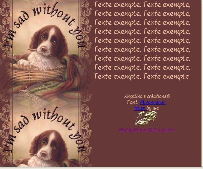 I'm sad without you (Chien) Incredimail &amp&#x3B; Papier A4 h l &amp&#x3B; outlook &amp&#x3B; enveloppe &amp&#x3B; 2 cartes A5 &amp&#x3B; signets im_sad_without_you_chien_john_silver4