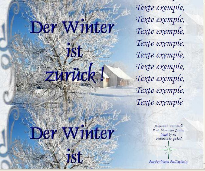 Der Winter ist zurück ! Paysage hivernal Incredimail &amp&#x3B; A4 h l &amp&#x3B; outlook &amp&#x3B; enveloppe &amp&#x3B; 2 cartes A5 &amp&#x3B; signets    der_winter_ist_zurueck_hivernal_2006701_0464_00