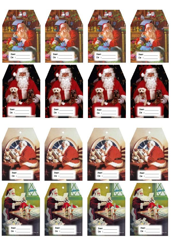 Etiquettes cadeaux Thème Noël