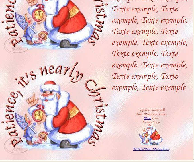 Patience, it's nearly Christmas IM &amp&#x3B; Papier A4 h l &amp&#x3B; outlook &amp&#x3B; enveloppe &amp&#x3B; 2 cartes A5 &amp&#x3B; signets patience_its_nearly_perenoelreveil_2d8307fb_00