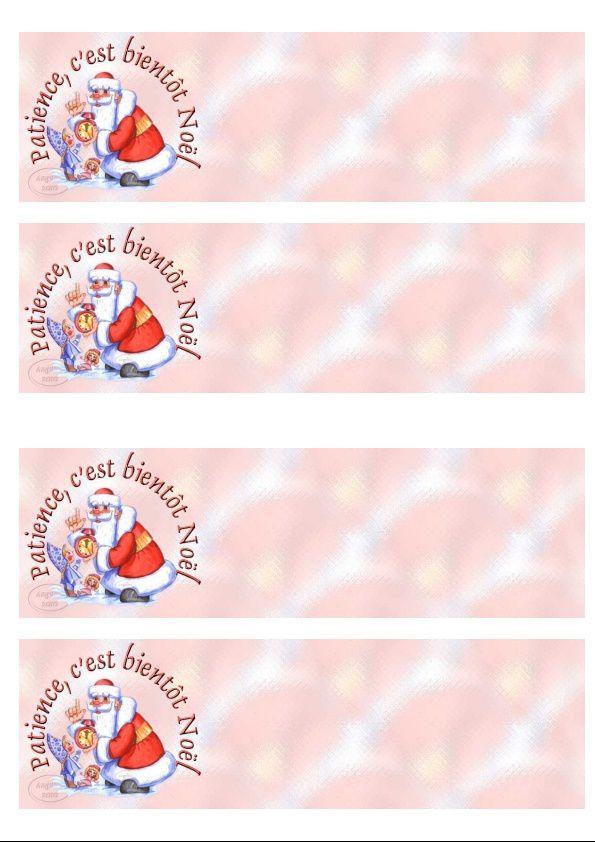 Patience, c'est bientôt Noël IM &amp&#x3B; Papier A4 h l &amp&#x3B; outlook &amp&#x3B; enveloppe &amp&#x3B; 2 cartes A5 &amp&#x3B; signets patience_cest_bientot_perenoelreveil_2d8307fb_00
