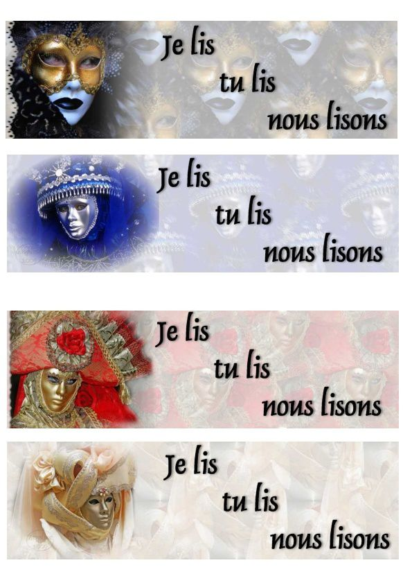 Marque-pages - signets Personnages Carnaval melanges signets_pers_carnaval_melanges