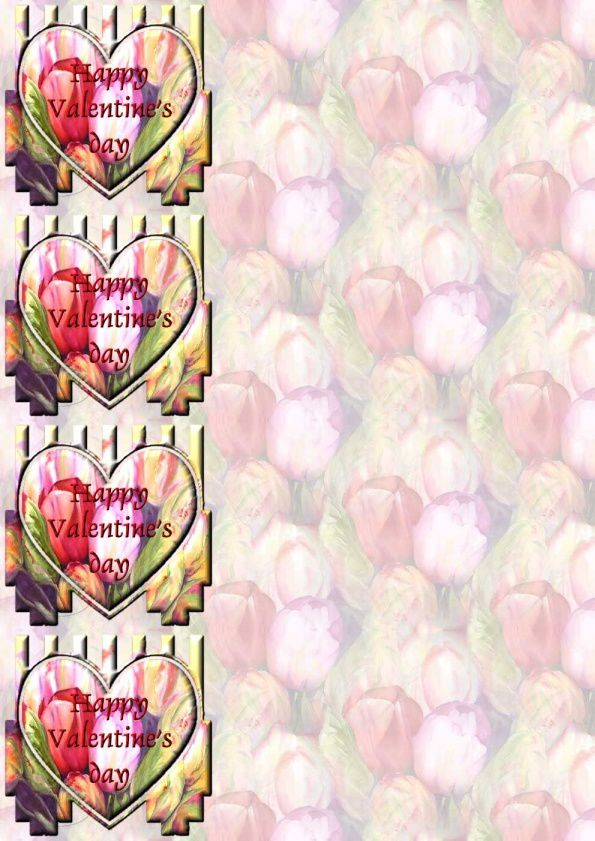 Happy Valentine's day Tulipes Incredimail &amp&#x3B; Papier A4 h &amp&#x3B; outlook
