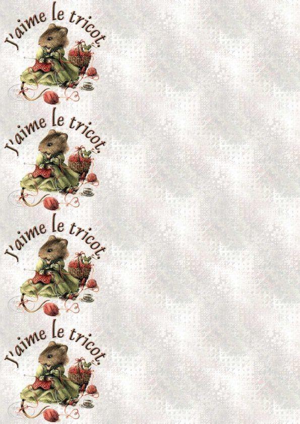 J'aime le tricot Veramouse tricot Incredimail &amp&#x3B; Papier A4 h l &amp&#x3B; outlook &amp&#x3B; enveloppe &amp&#x3B; 2 cartes A5 &amp&#x3B; signets jaime_le_veramouse_tricot_00