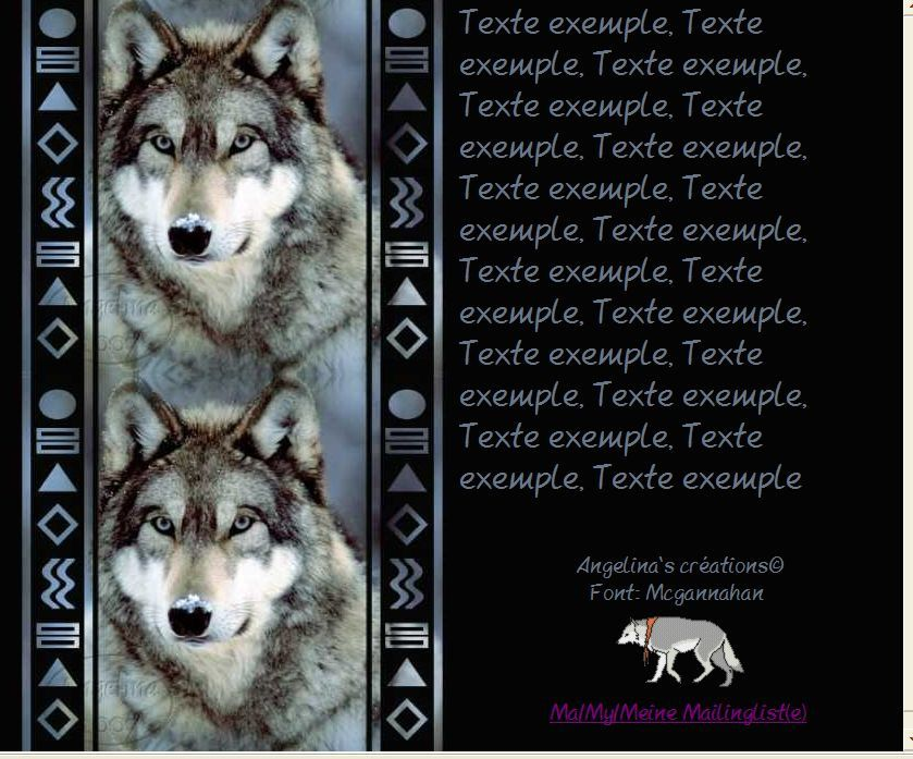 Loup Incredimail &amp&#x3B; Papier A4 h l &amp&#x3B; outlook &amp&#x3B; enveloppe &amp&#x3B; 2 cartes A5 &amp&#x3B; signets 3 langues      wolf_wolfface04