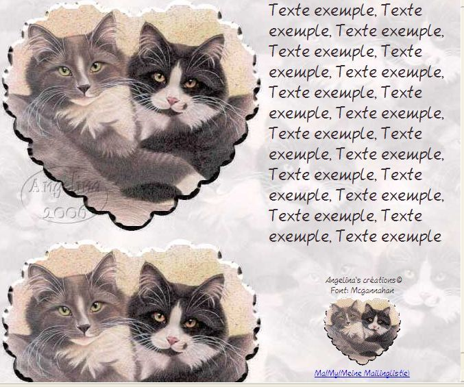 Chats masque coeur Incredimail &amp&#x3B; Papier A4 h l &amp&#x3B; outlook &amp&#x3B;  enveloppe &amp&#x3B; 2 cartes A5 &amp&#x3B; signets 3 langues   2_cat_friends_a