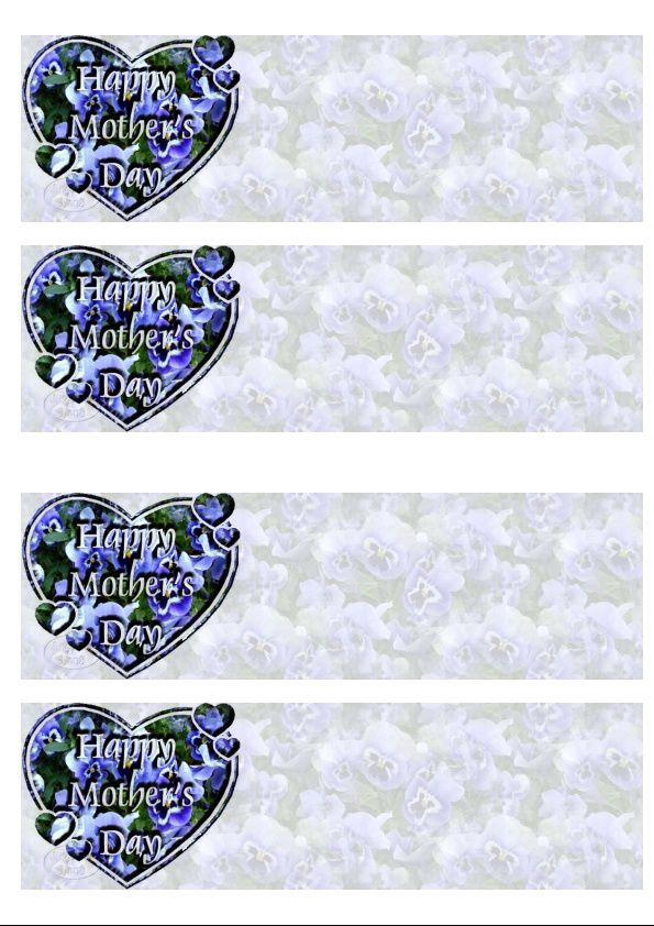 Happy Mother's day Incredimail &amp&#x3B; Papier A4 h l &amp&#x3B; outlook &amp&#x3B; enveloppe &amp&#x3B; 2 cartes A5 &amp&#x3B; signets   happy_mothers_day_36325950cbsums