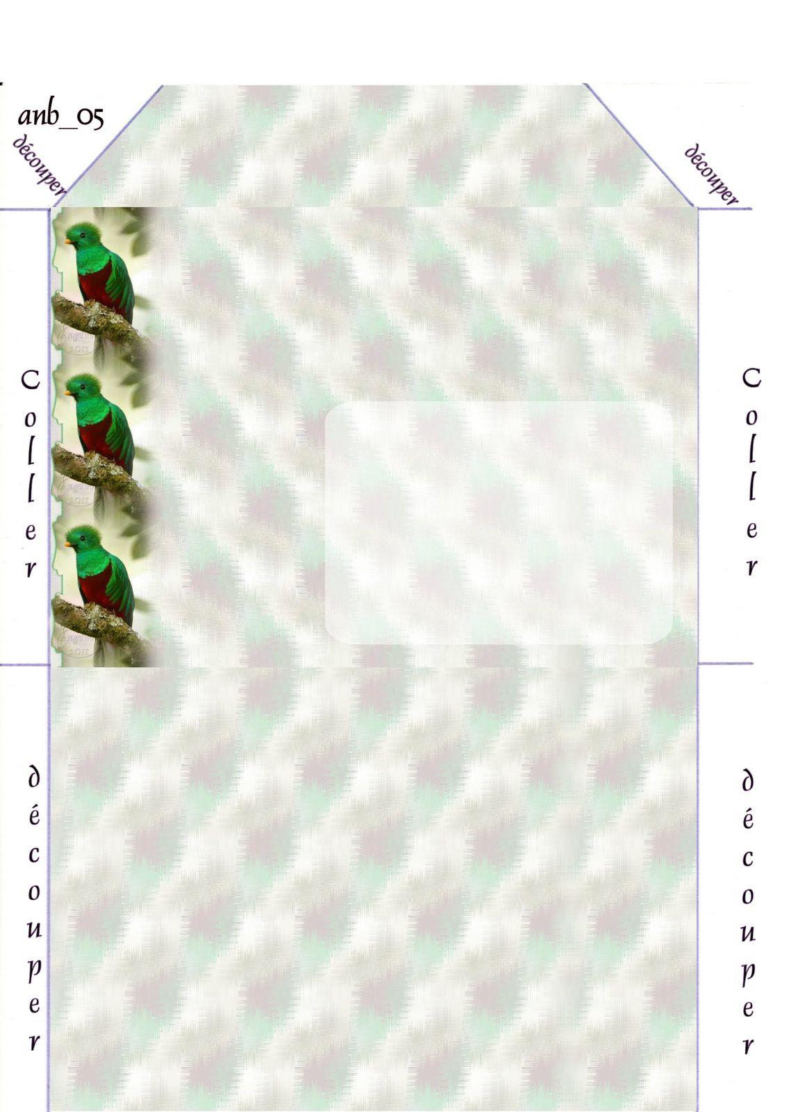 Quetzal resplendent Incredimail &amp&#x3B; Papier A4 h l &amp&#x3B; outlook &amp&#x3B; enveloppe &amp&#x3B; 2 cartes A5 &amp&#x3B; signets 3 langues     ois_quetzal_resplendent_00_micheline