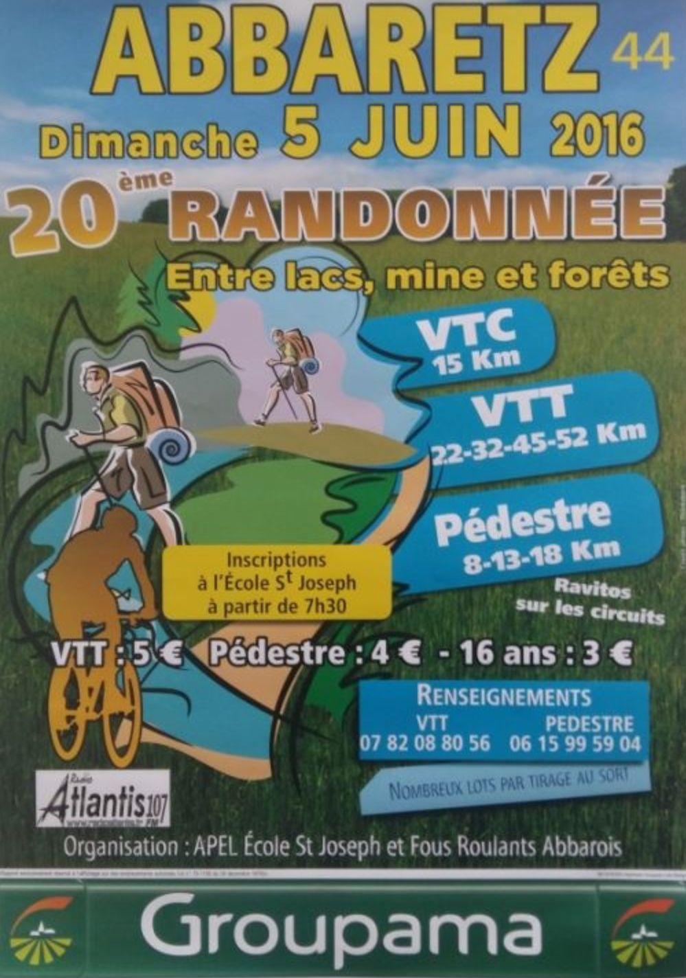 05/06/2016 : Entre lacs mine et forets - Abbaretz 44