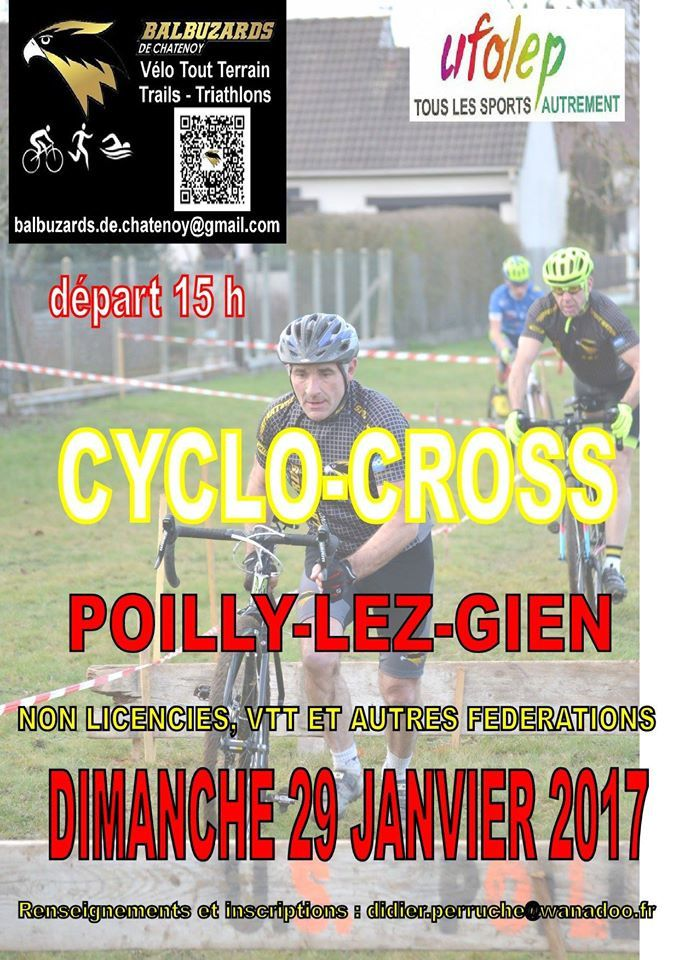 Cyclo-cross le 29 janvier 2017 - Poilly les giens