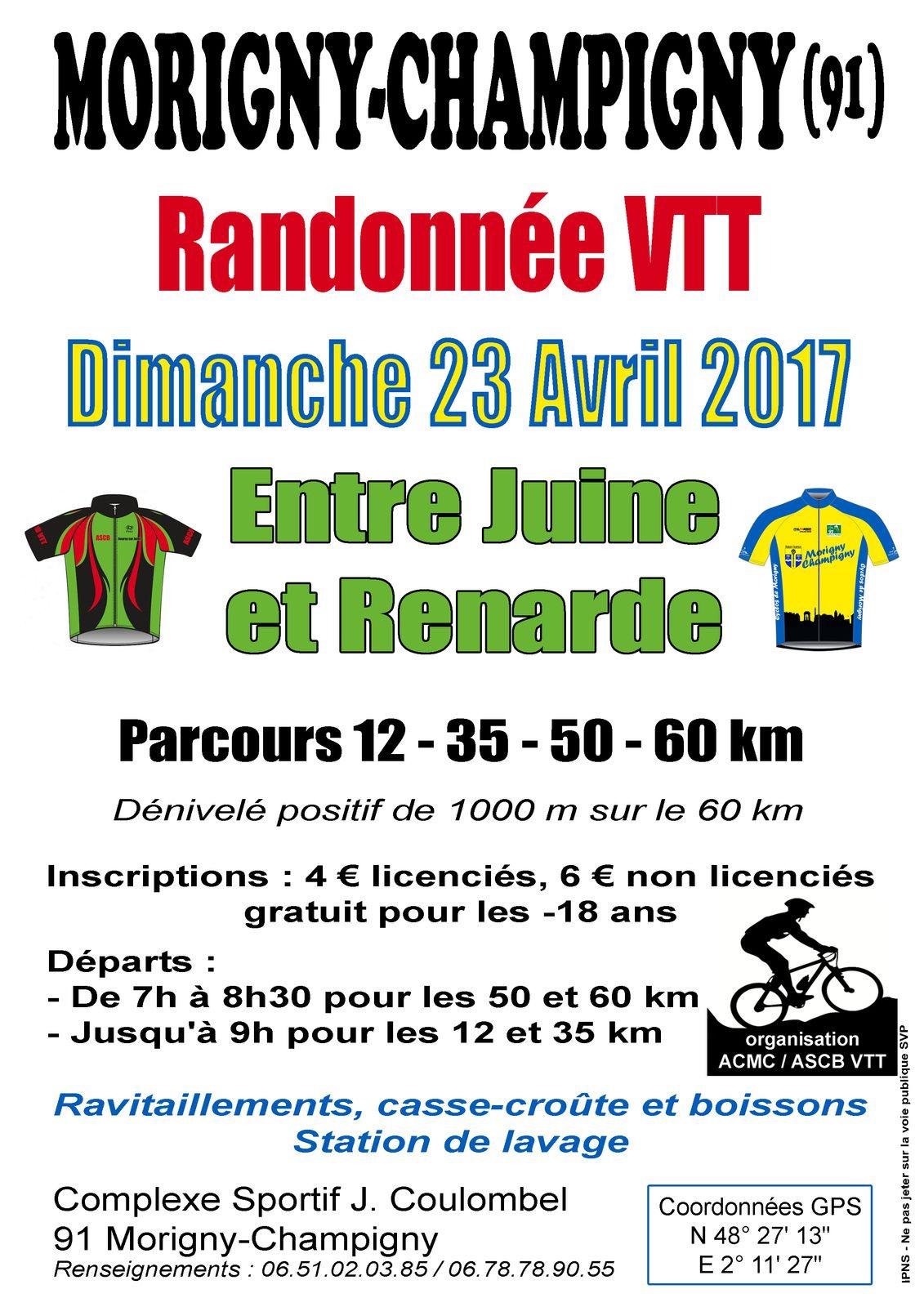 Entre Juine et Renarde - 23 Avril 2017 - Morigny Champigny