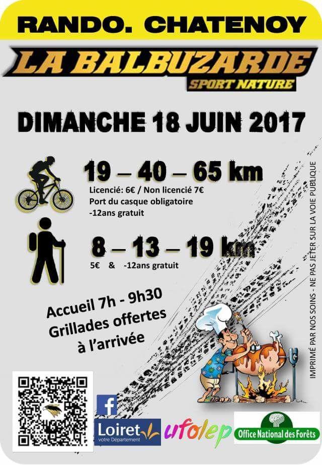 Randonnée VTT et pédestre - La Balbuzarde - 18 Juin 2017 - Chatenoy