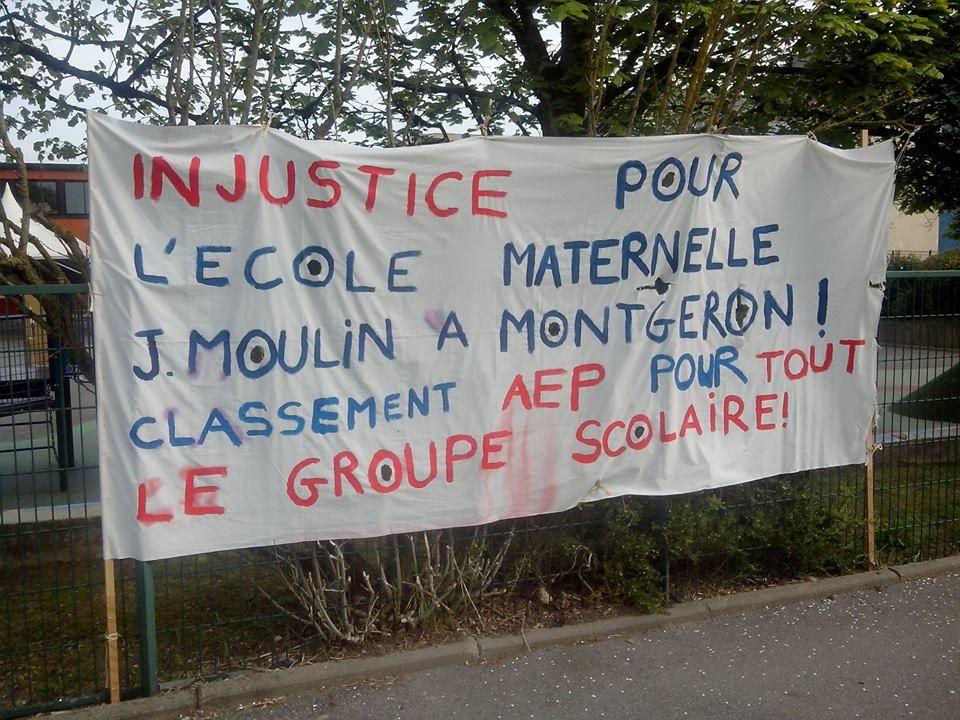 Les parents de l'école Jean Moulin réclament le classement en AEP de tout le groupe scolaire
