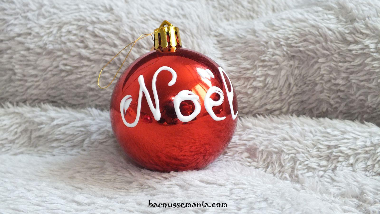 Prépare ton sapin de Noël boule de noël personnalisé