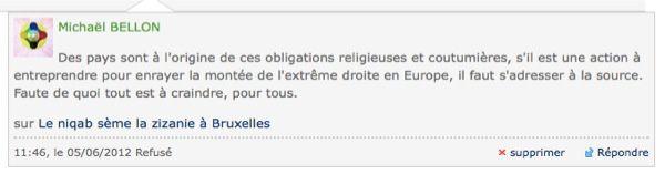 Le Figaro.fr - Mes commentaires refusés. 2020-2019-2018-2017-2011.