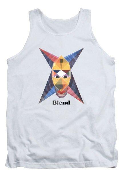 Tee-Shirt d'art - Blend Text - Panoplie pour la plage et plus.