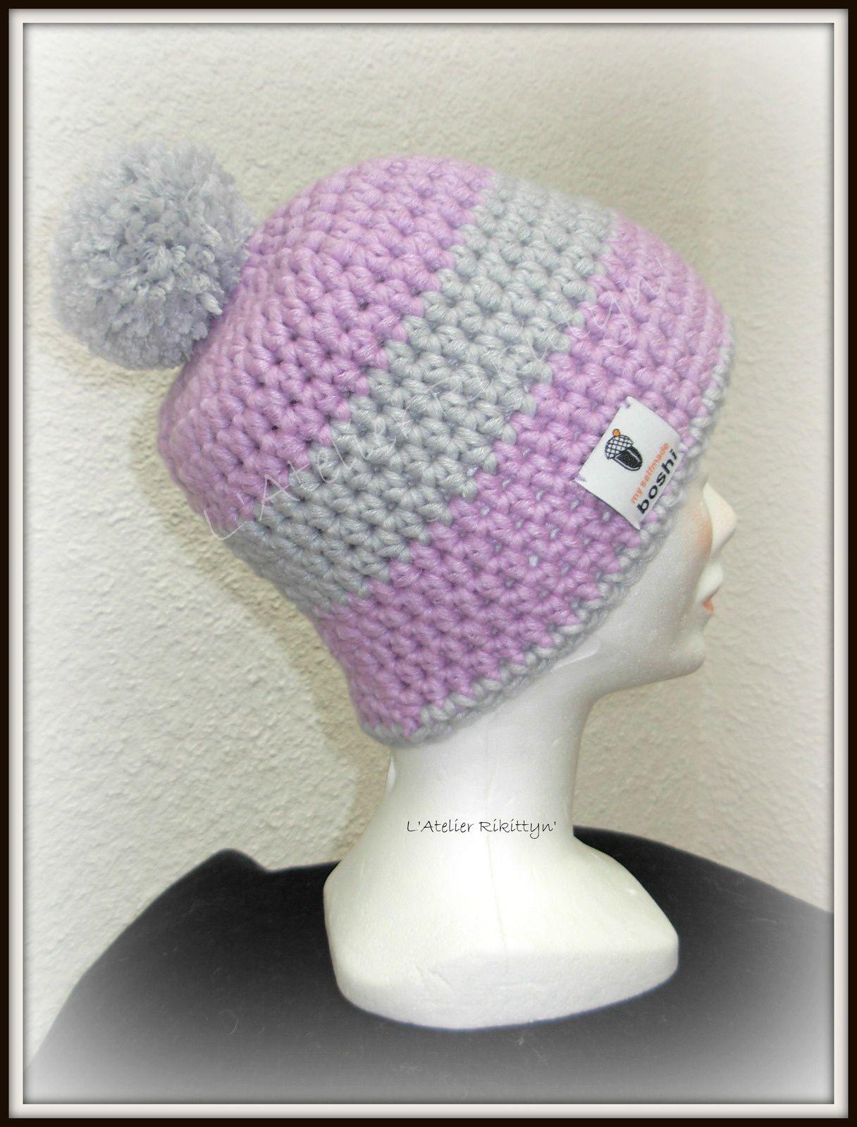 "2014.02.14 - Bonnets au crochet ""I LOVE MY HAT"" et ""MYBOSHI"""