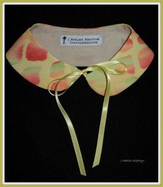 2014.04.05 - Cols Claudine : soie, coton, voile de coton, cuir, synthétique