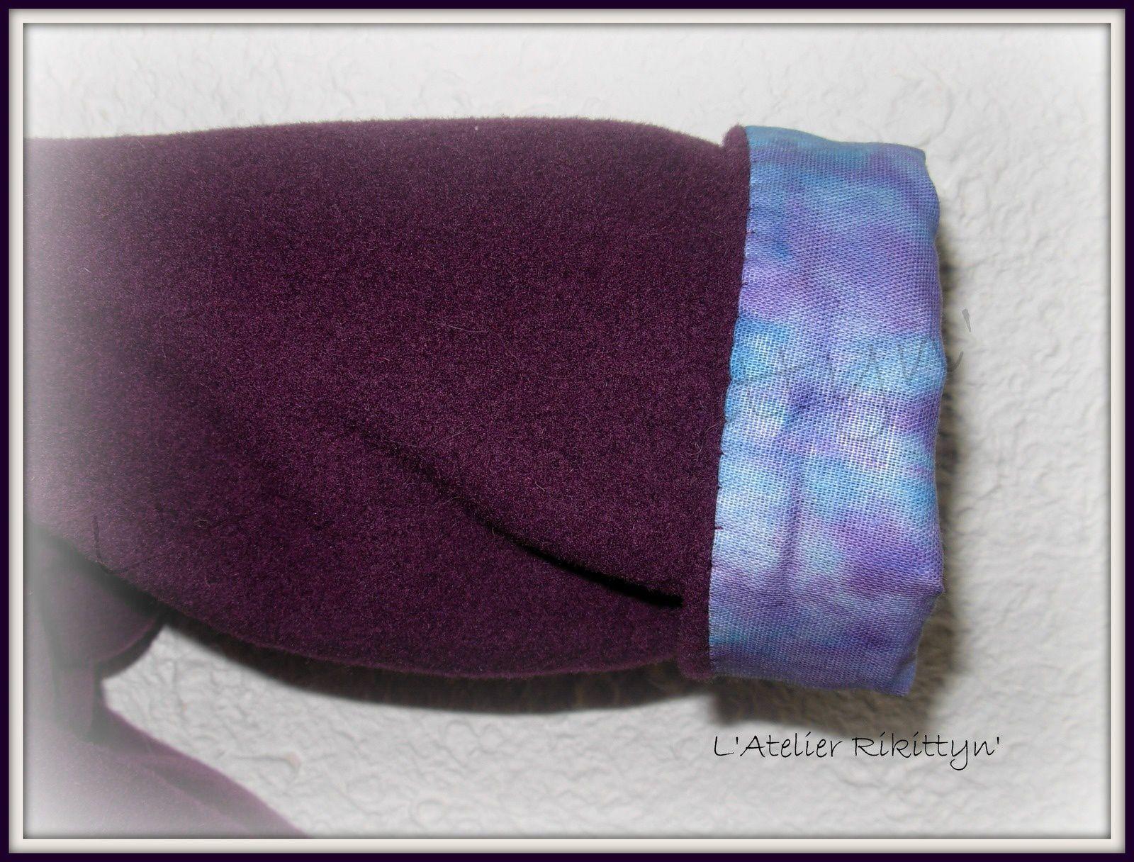 2013.11.20 - Manteau pour bébé fille : laine bouillie doublé en coton wax