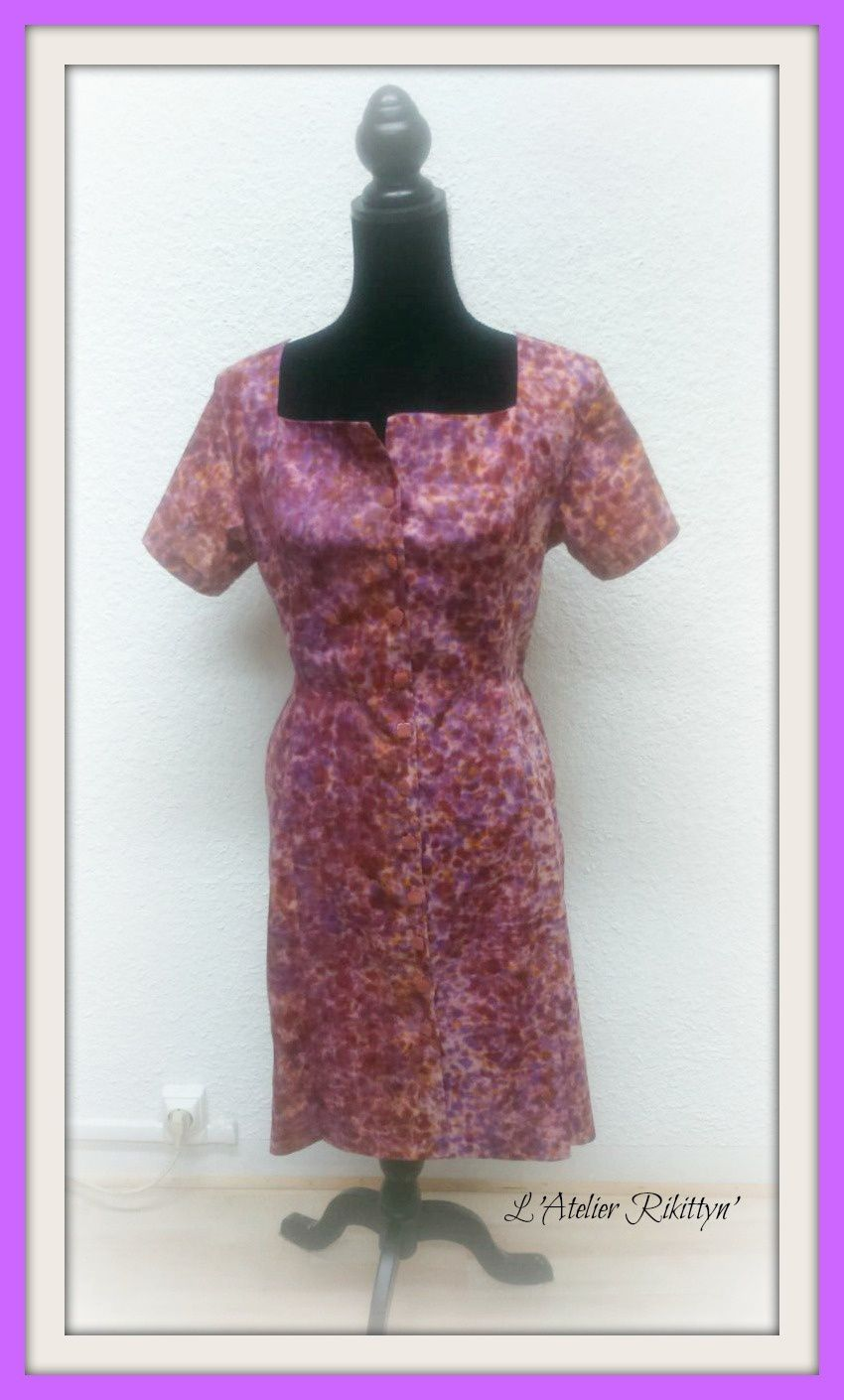 Robe en wax rose