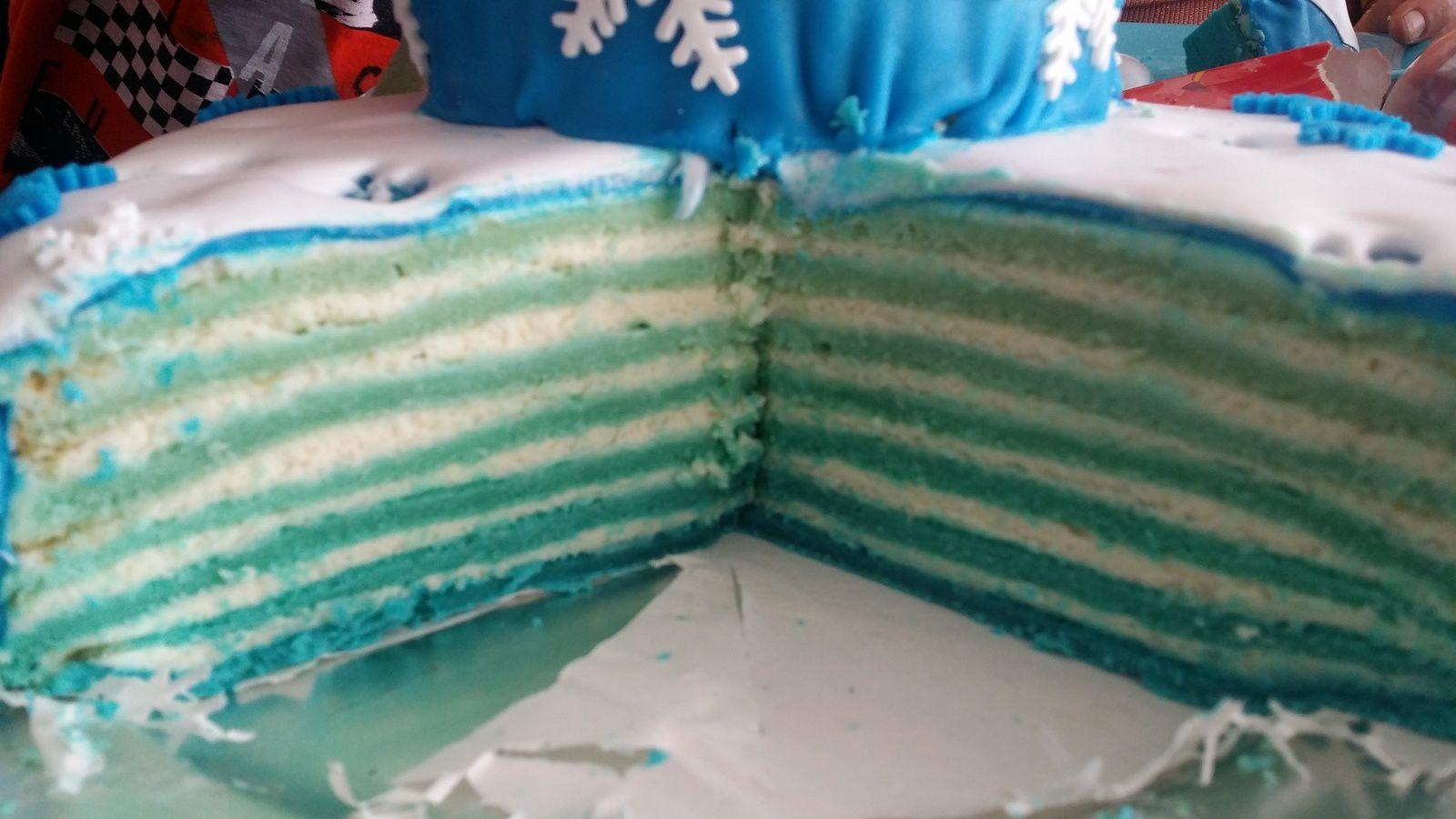Reine des neiges (gâteau anniversaire)