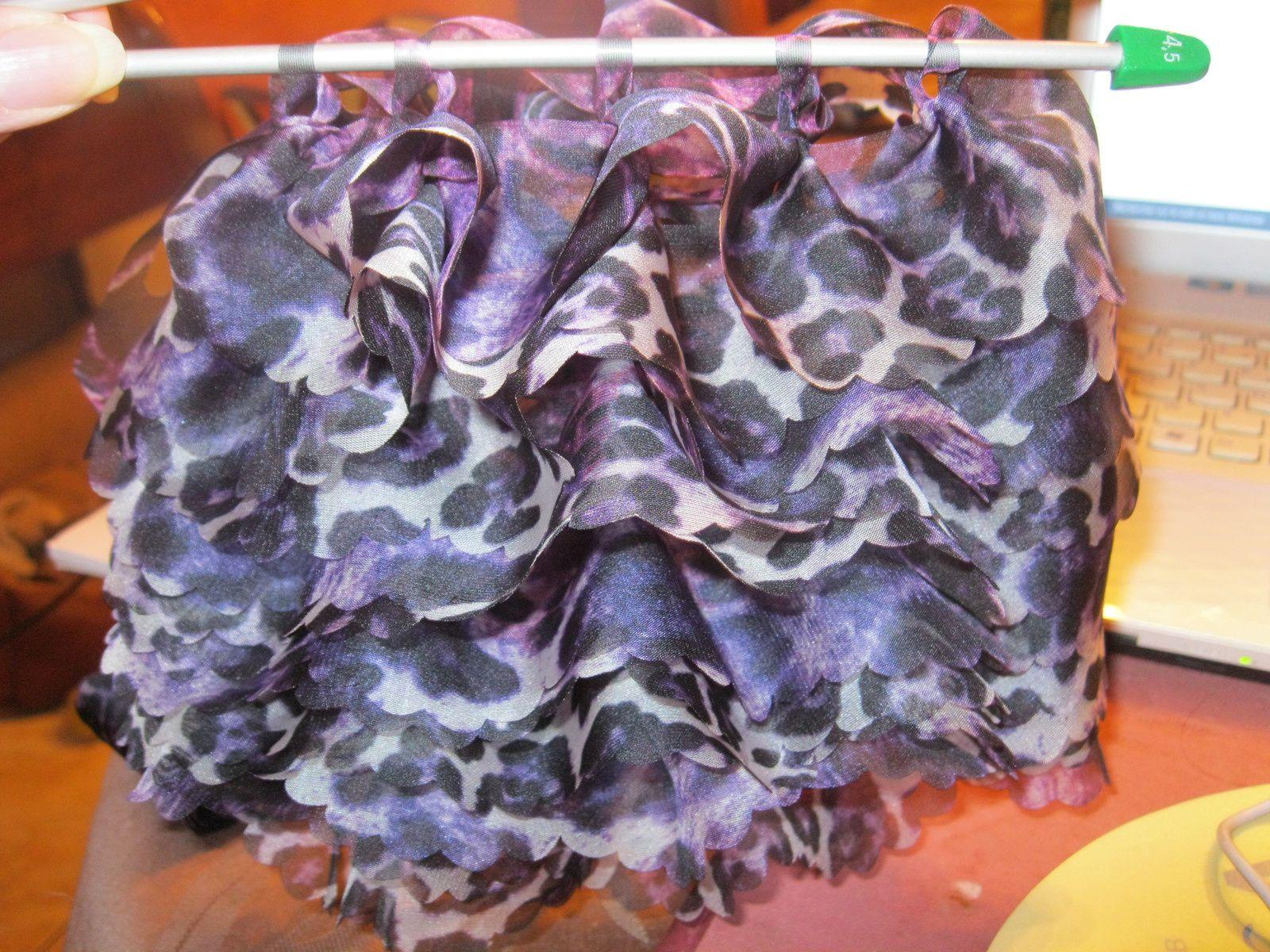 Echarpe tricotée avec du fil Tutu plus : du foulard à tricoter