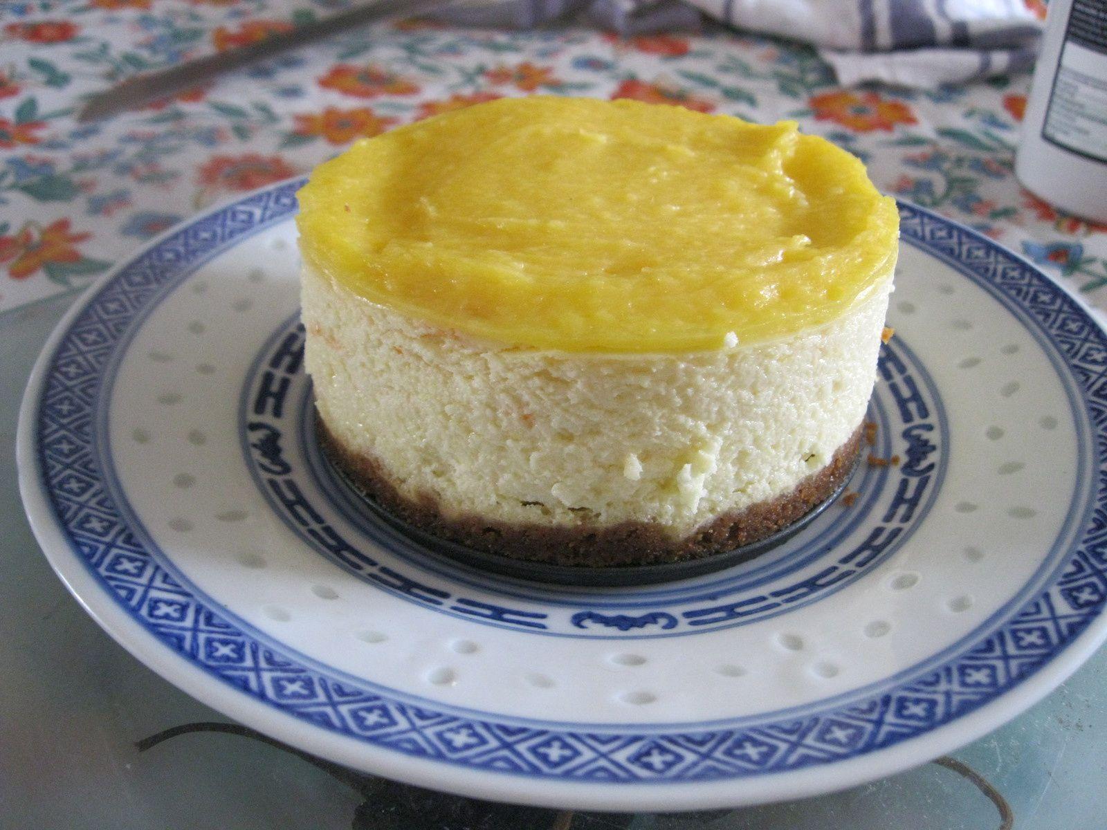 Cheesecake fait dans 4 petits moules. Mais suffisamment grands pour faire un maxi-mini cheesecake (pour deux personnes)