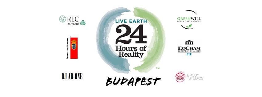 Rassemblement &quot&#x3B;24 hours of Reality&quot&#x3B; (COP21) à Budapest