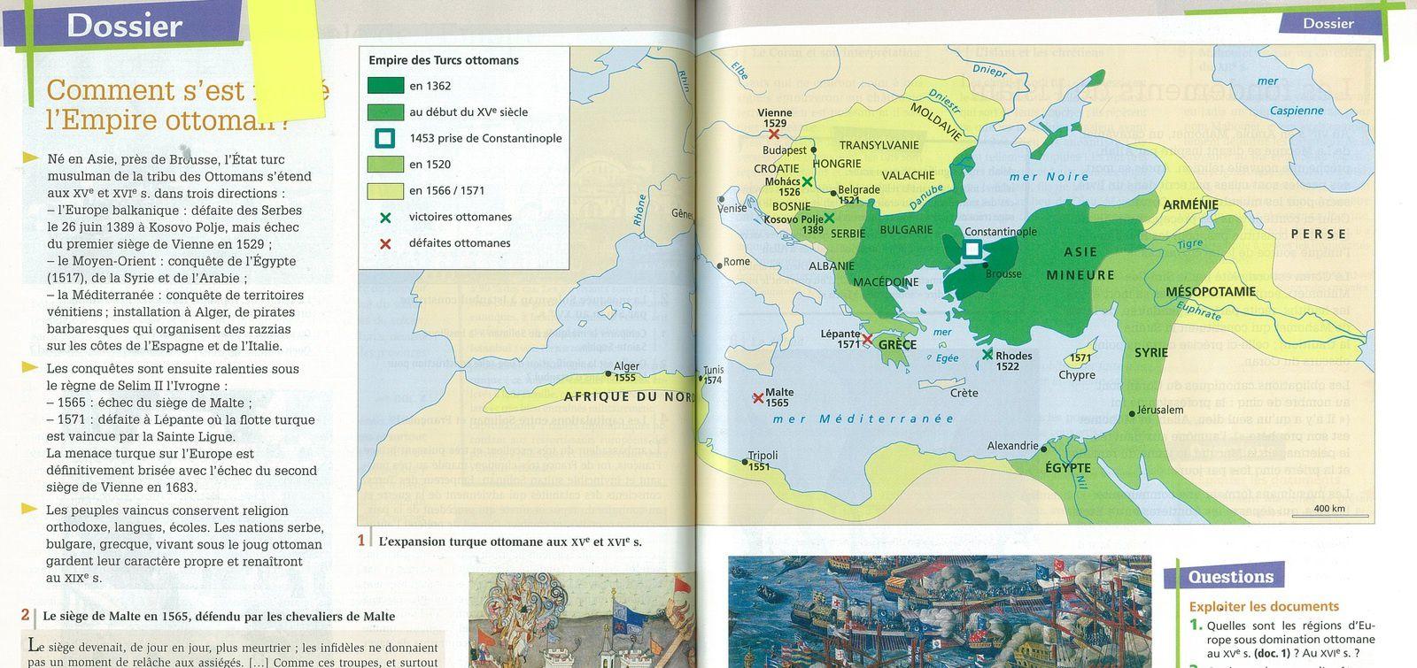 L'expansion turque ottomane au XVe et XVIe siècle
