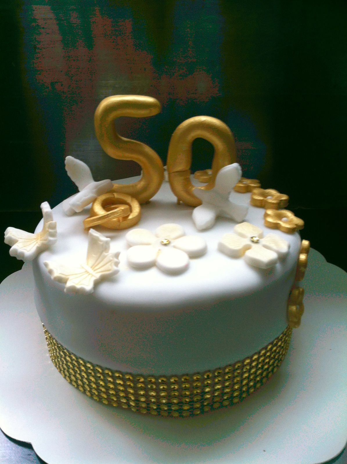 Decoration gateau noces d or d coration g teau verres for Decoration 50 ans homme