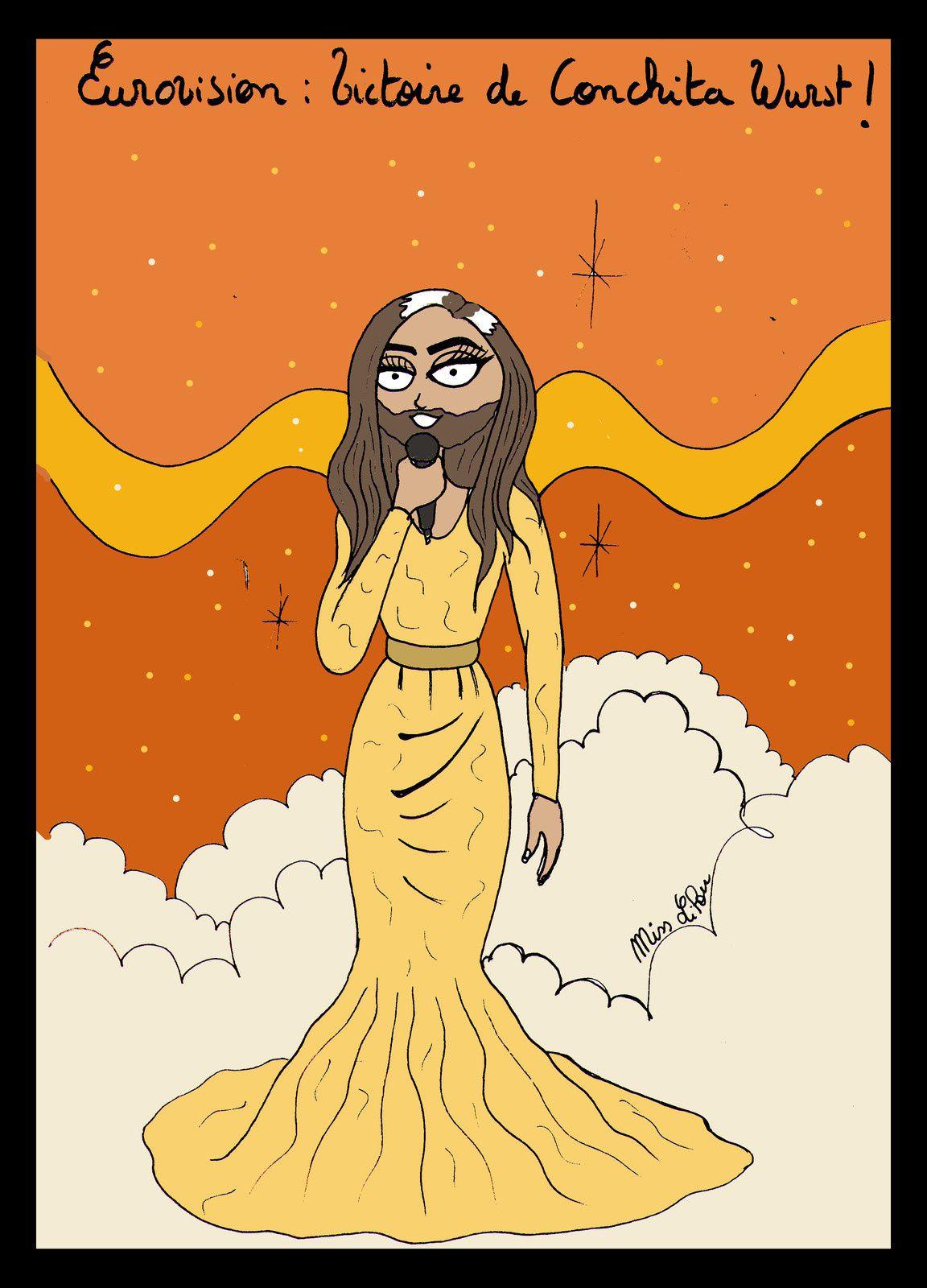 "Conchita Wurst et sa chanson ""Rise like a phoenix !"""