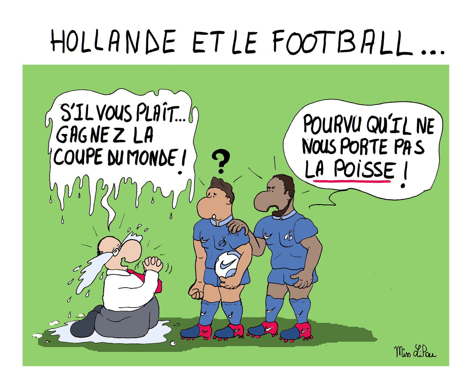 François Hollande Et Le Football Dessins Miss Lilou