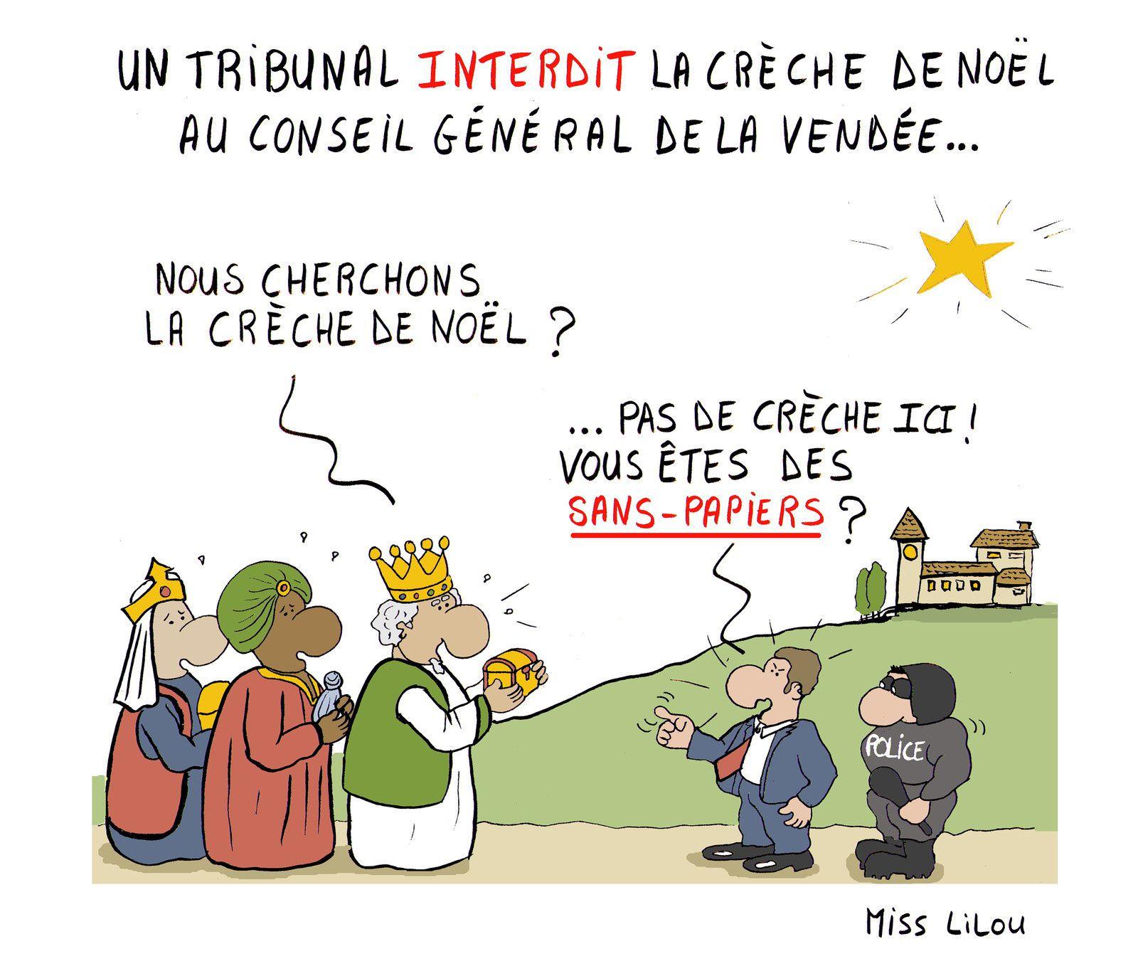 UN TRIBUNAL INTERDIT LA CRÈCHE DE NOEL AU CONSEIL GÉNÉRAL DE VENDÉE...