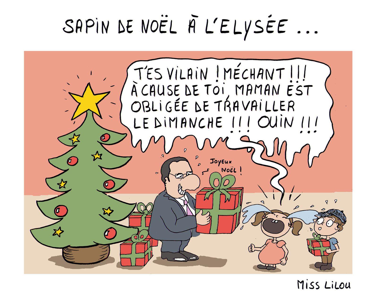 SAPIN DE NOËL À L'ÉLYSÉE...