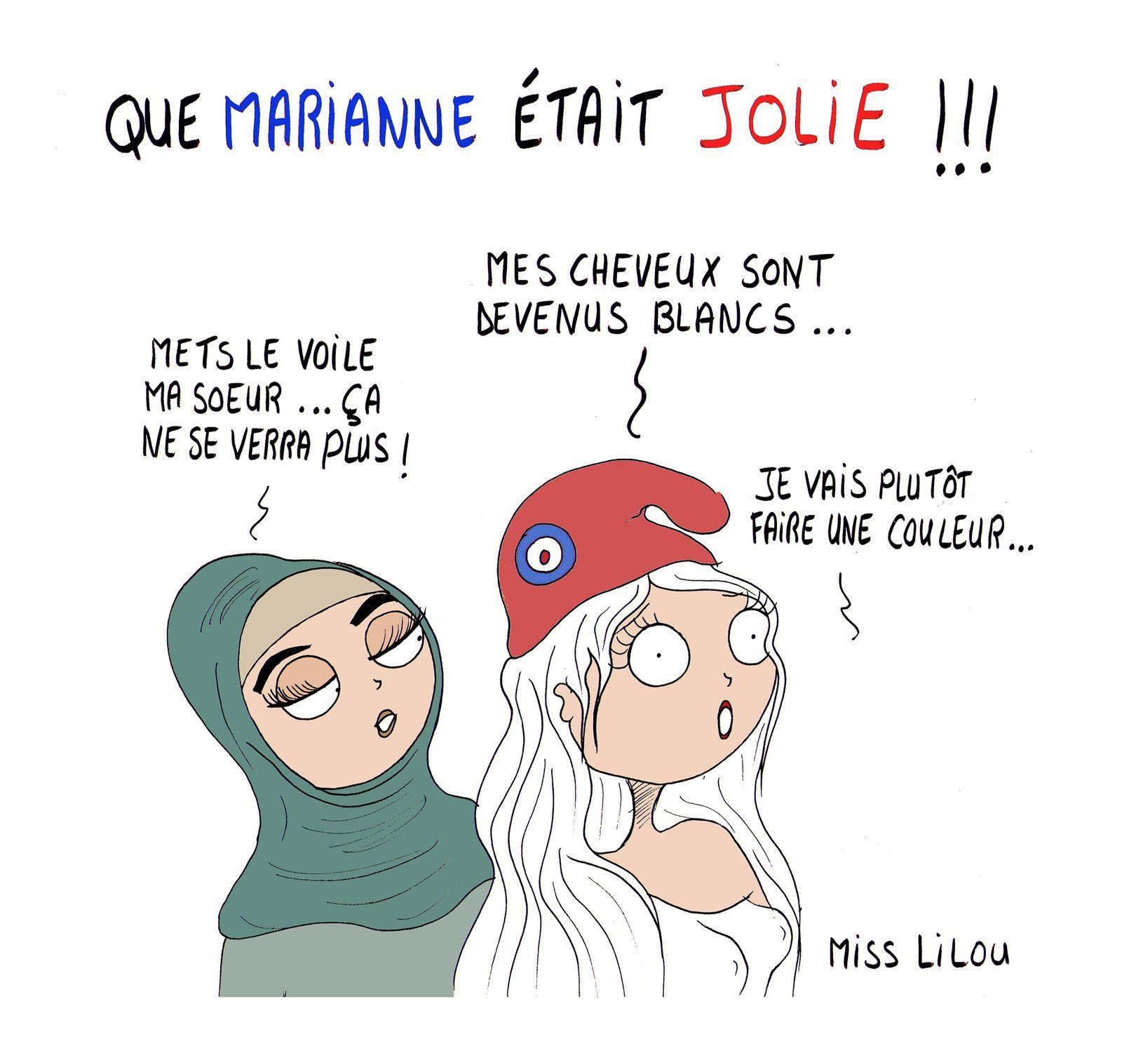 Que Marianne Etait Jolie Dessins Miss Lilou