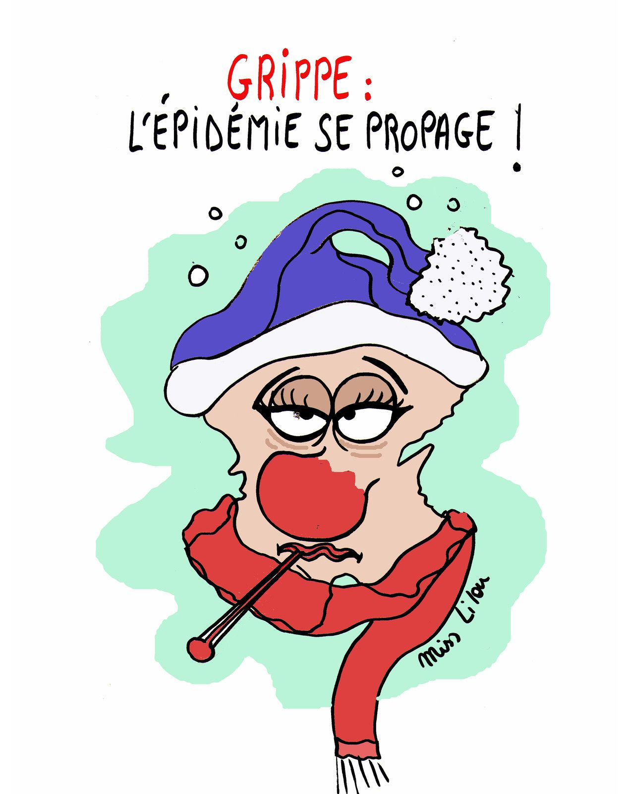 GRIPPE : L'ÉPIDÉMIE SE PROPAGE !!!