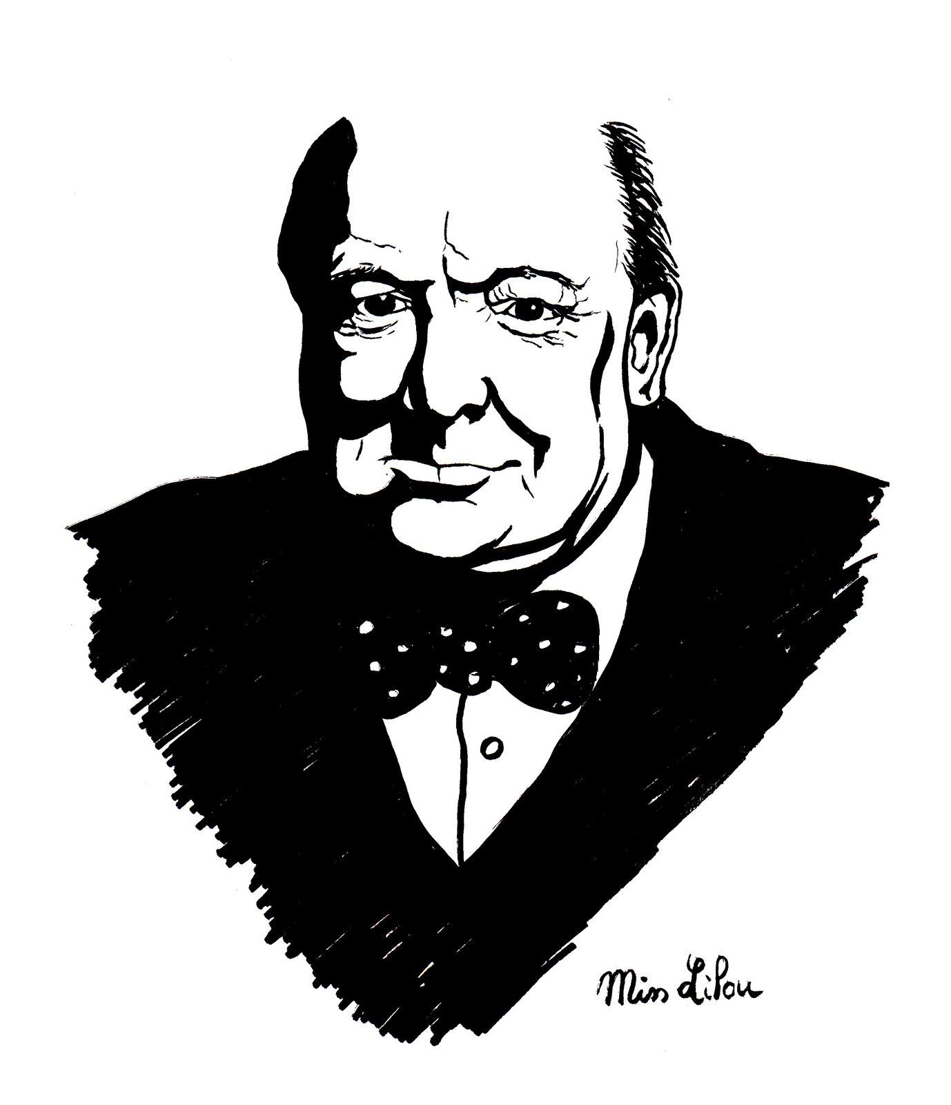 WINSTON CHURCHILL ( encre de Chine)