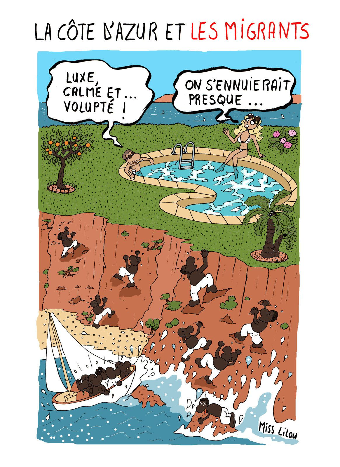 La Côte d'Azur et les Migrants...