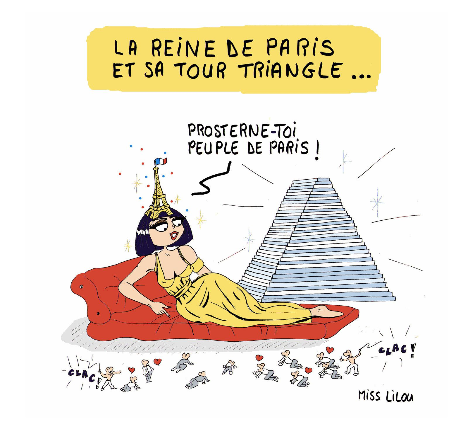 La Reine de Paris et sa Tour Triangle...