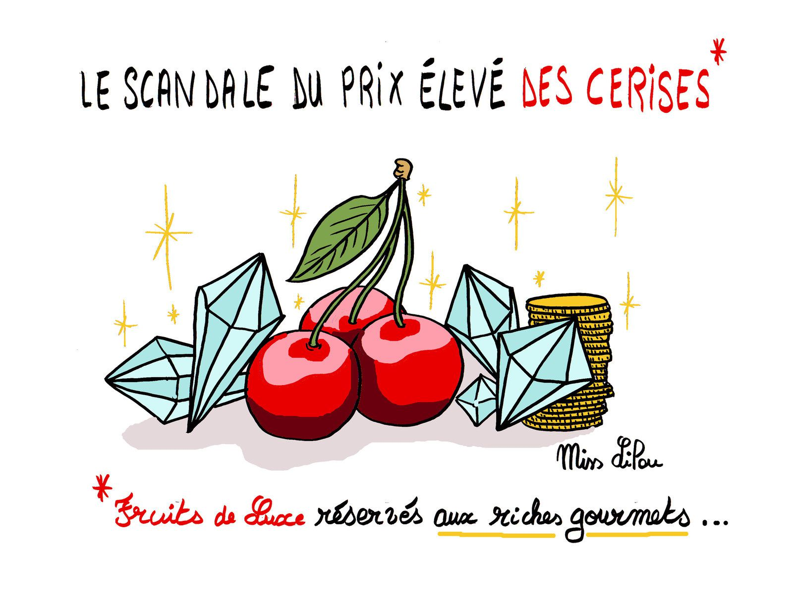 Economie dessins miss lilou - Dessin de cerise ...