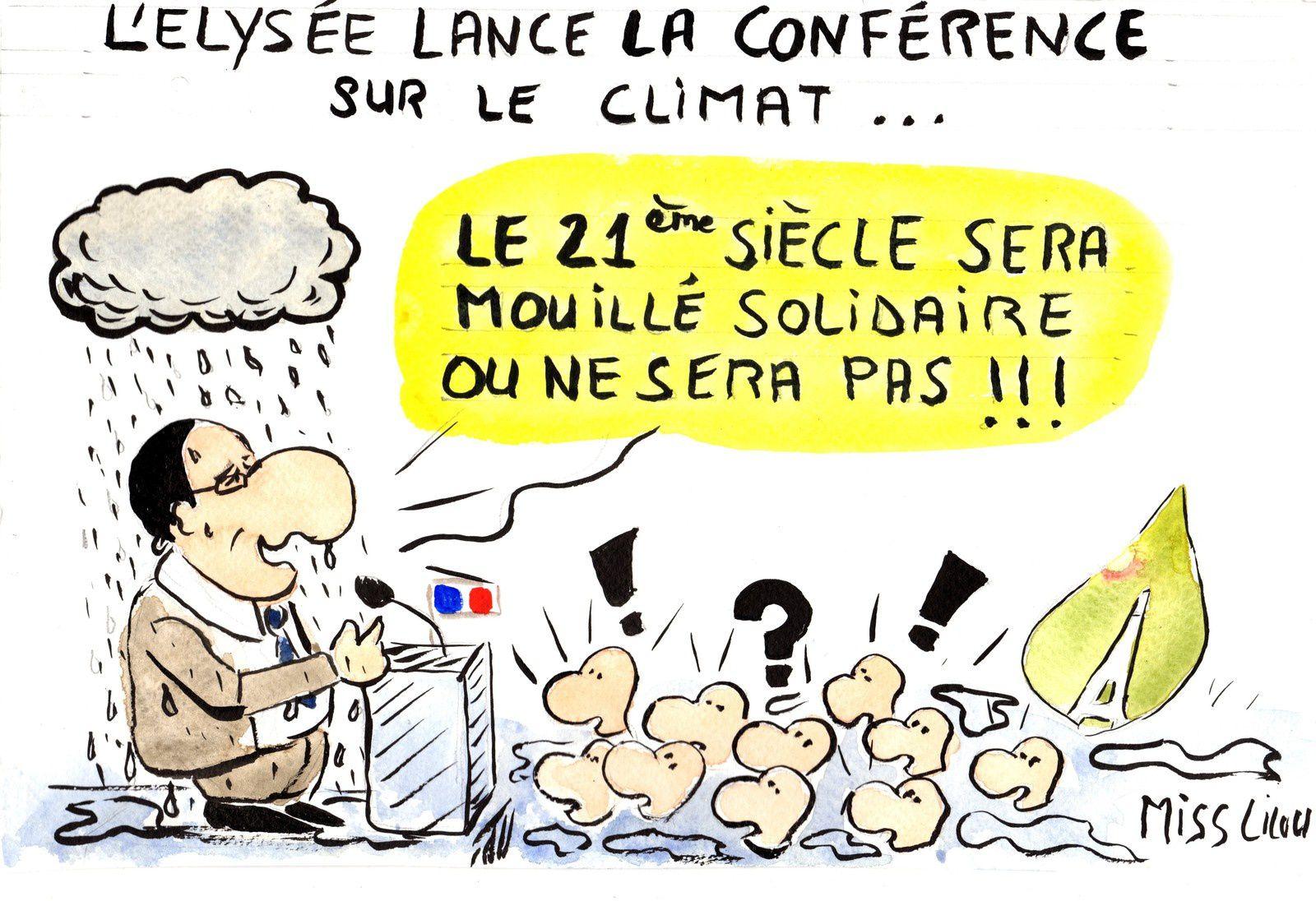 L'Elysée lance la conférence sur le climat...