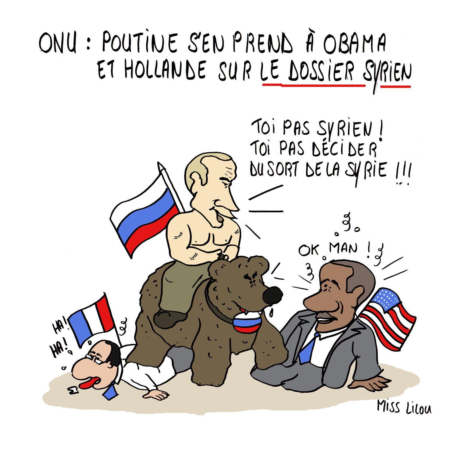 ONU : Poutine s'en prend à Obama et Hollande sur le dossier syrien...