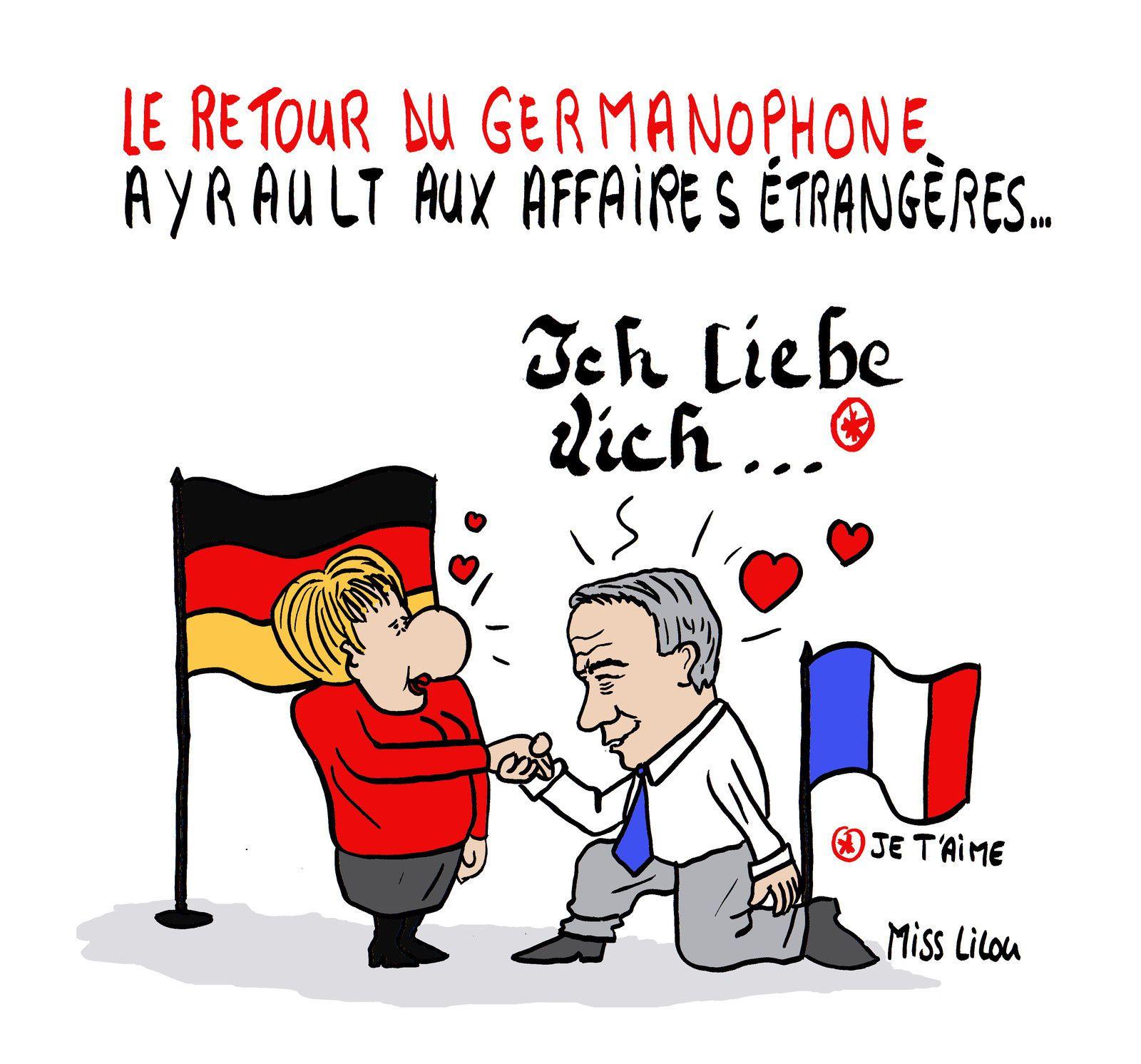 Le retour du germanophone Ayrault aux affaires étrangères...