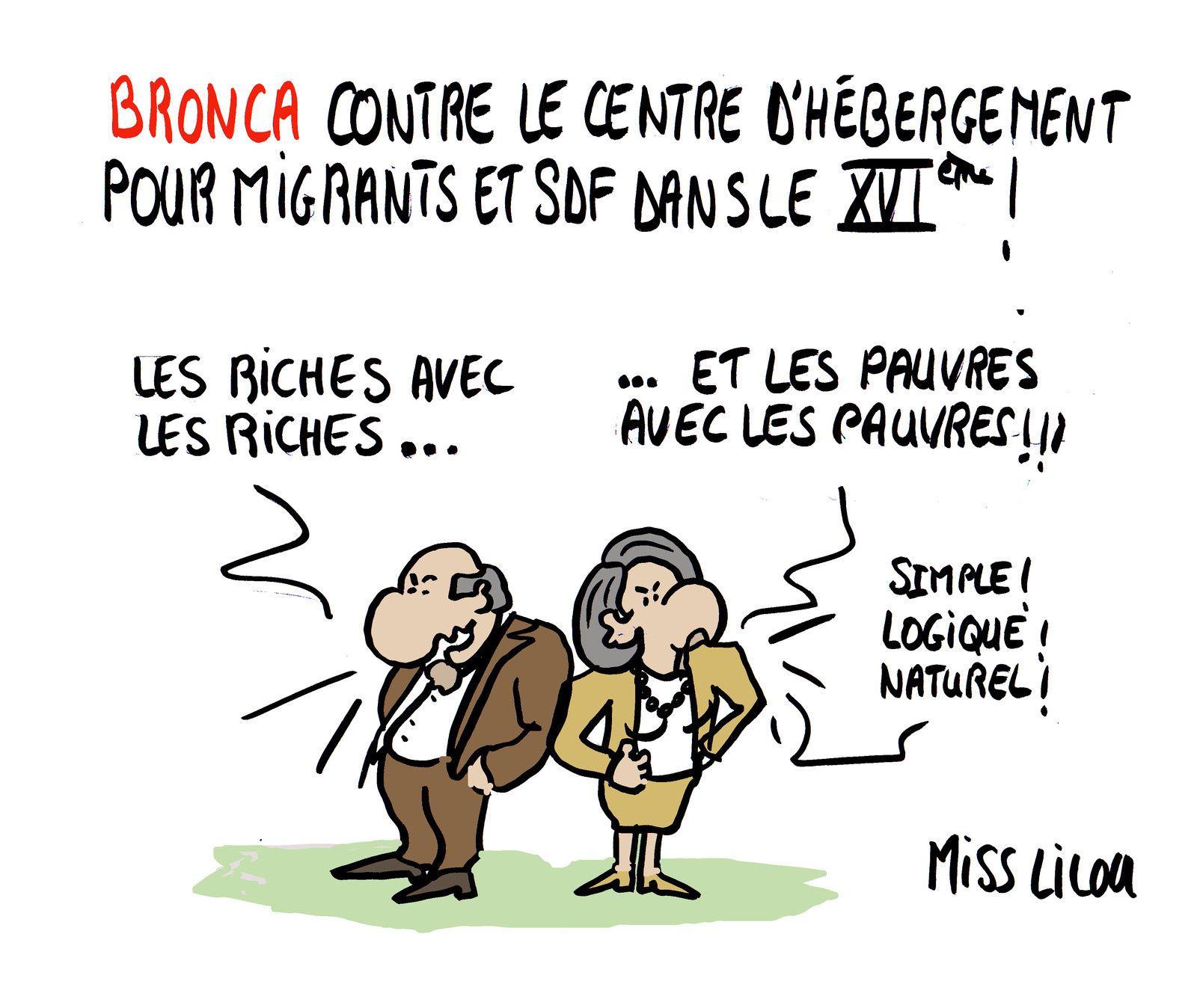 Bronca contre le centre d'hébergement pour migrants et SDF dans le 16ème !
