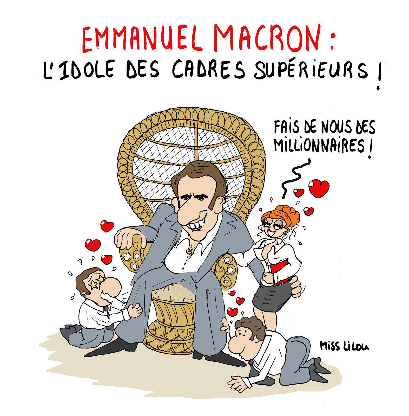 Emmanuel Macron : l'Idole des cadres supérieurs !